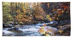 Autumn Stream Beach Towel