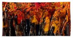 Autumn Trees Beach Sheet