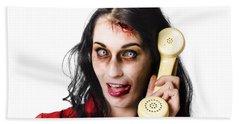 Bad News Phone Call Beach Towel