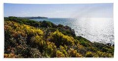 Bass Strait Ocean Landscape In Tasmania Beach Towel