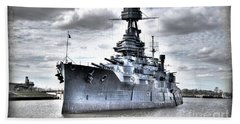 Battleship Texas Beach Towel by Savannah Gibbs