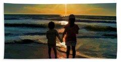 Beach Kids Beach Sheet by Margie Chapman