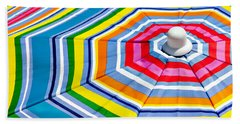 Beach Umbrella Beach Towel by Art Block Collections