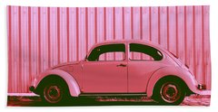 Beetle Pop Pink Beach Towel