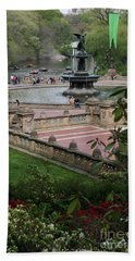 Bethesda Fountain - Central Park Nyc Beach Sheet