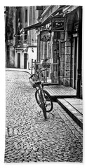 Beach Towel featuring the photograph Bicycle And Sparrow 2  by Elf Evans