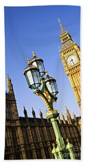 Big Ben And Palace Of Westminster Beach Towel by Elena Elisseeva