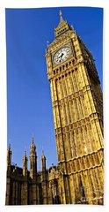 Big Ben Clock Tower Beach Towel