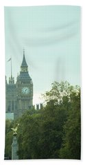 Big Ben Beach Towel by Rachel Mirror