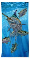 Black Marlin And Albacore Beach Towel