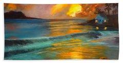 Blue Sunset Beach Sheet