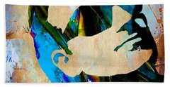 Bono U2 Beach Sheet by Marvin Blaine
