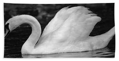Boston Public Garden Swan Beach Towel