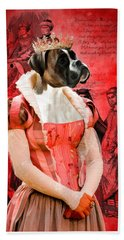 Boxer Art Canvas Print Beach Towel