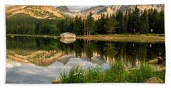 Brainard Lake Reflections Beach Towel