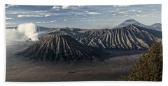 Bromo Mountain Beach Sheet by Miguel Winterpacht