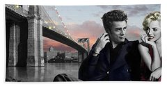 Brooklyn Bridge Beach Sheet by Chris Consani