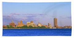 Buildings At The Waterfront, Buffalo Beach Towel