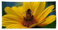 Busy Bee Beach Towel by Denyse Duhaime