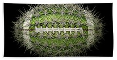 Cactus Football Beach Towel by James Larkin