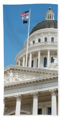 California State Capitol In Sacramento Beach Towel