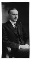 Calvin Coolidge 1918 Beach Towel