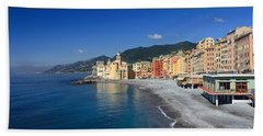 Beach Towel featuring the photograph Camogli - Italy by Antonio Scarpi