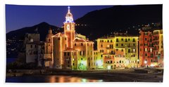 Camogli At Evening Beach Towel