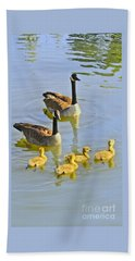 Canadian Goose Family Beach Towel