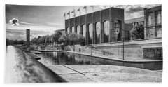 Beach Towel featuring the photograph Canal Walk by Howard Salmon