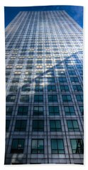 Canary Wharf Tower Beach Sheet by David Pyatt