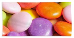 Candy Background Beach Towel
