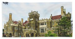 Casa Loma In Toronto Beach Towel