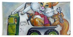 Cat C5x 190312 Beach Towel by Selena Boron
