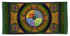 Celtic Elements Beach Towel
