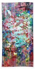 Beach Towel featuring the painting Charivari by Roberto Prusso