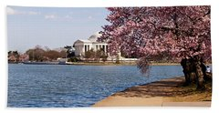 Cherry Blossom Trees In The Tidal Basin Beach Towel