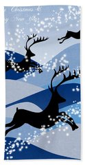 Christmas Card 2 Beach Towel
