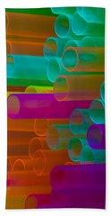 Colored Tubes Beach Towel