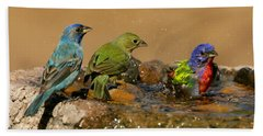 Colorful Bathtime Beach Sheet by Myrna Bradshaw