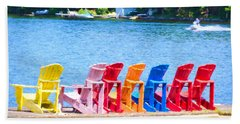 Colorful Chairs Beach Towel