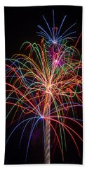 Colorful Fireworks Beach Towel