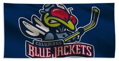 Columbus Blue Jackets Uniform Beach Towel