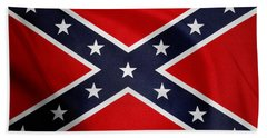 Confederate Flag Beach Sheet by Les Cunliffe
