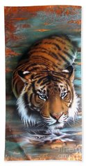 Copper Tiger II Beach Towel