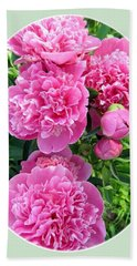 Country Peonies Beach Towel