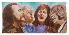 Crosby Stills Nash And Young Beach Towel by Kean Butterfield