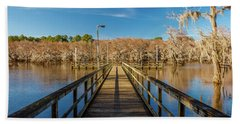 Cypress Trees At Caddo Lake State Park Beach Towel