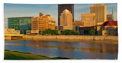 D4u-379 Dayton Skyline Photo Beach Sheet