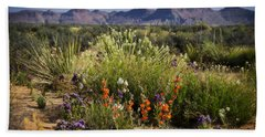 Desert Wildflowers Beach Towel